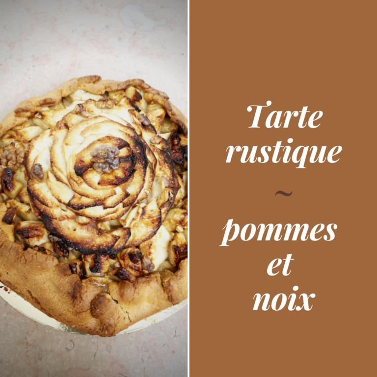 LPGA_tarte rustique pommes et noix